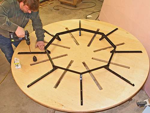 Expanding Round Table. Construction Blog: Page 12. Installing The Subframe